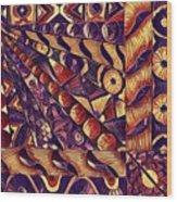 Digital Abstract 1 Wood Print