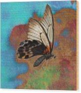 Digital Art Butterfly Wood Print