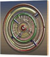 Digital Art Dial 4 Wood Print