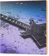 Digital-art E-guitar II Wood Print by Melanie Viola