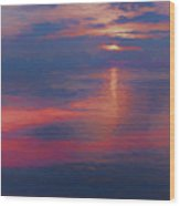 digital art   SUNSET SEASIDE Wood Print