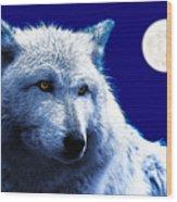 Digital Art Wolf Poster Wood Print