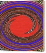 Digital Blue Red Plate Special Wood Print
