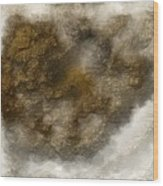 Digital Cloud Tops Wood Print
