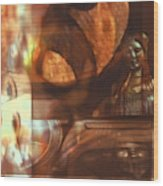 Digital Collage  Wood Print