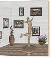 digital exhibition _ A sculpture of a dancing girl 11 Wood Print