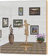 digital exhibition _ A sculpture of a dancing girl 3 Wood Print