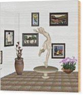 digital exhibition _ A sculpture of a dancing girl 8 Wood Print