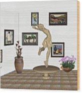 digital exhibition _ A sculpture of a dancing girl 9 Wood Print