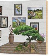 Digital Exhibition _ Bonsai 22 Wood Print