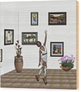 Digital Exhibition _ Dancing Girl  Wood Print