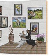 Digital Exhibition _ Dancing Lovers Wood Print