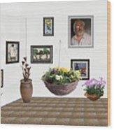 digital exhibition _ Flower basket 22 Wood Print
