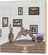 Digital Exhibition _ Girl 50 Wood Print