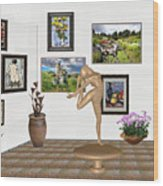 Digital Exhibition _ Statue Of  Erotic Acrobatics  2 Wood Print