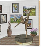 digital exhibition _ Statue of girl acrobat 35 Wood Print