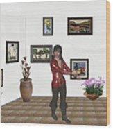 Digital Exhibition 21 Wood Print