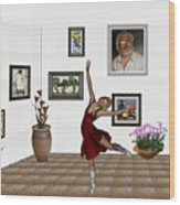 Digital Exhibition _dancing Girl 221 Wood Print
