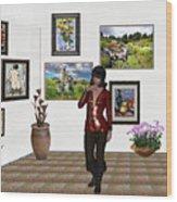Digital Exhibition _posing Girl 221 Wood Print