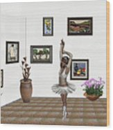 Digital Exhibition_my Dancing Girl Wood Print