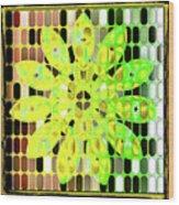 Digital Floral Wood Print