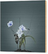 Digital Flower Arrangement Wood Print by GuoJun Pan