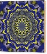 Digital Fractal Poster Wood Print