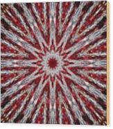 Digital Kaleidoscope Red-white 7 Wood Print