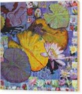 Digital Lilies Wood Print