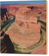 Digital Paint Horseshoe Bend  Wood Print