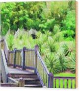 Digital Paint Landscape Jefferson Island  Wood Print
