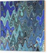 Digital Space Wood Print