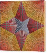 Digital Star 2 Wood Print