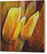 Digital Tulips Wood Print