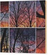 Digital Winter Trees Wood Print