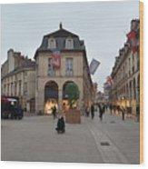Dijon Street Corner Wood Print