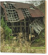 Dilapidated Barn Morgan County Kentucky Wood Print