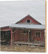Dilapidated Old Barn Wood Print