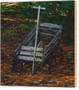 Dilapidated Wagon Wood Print
