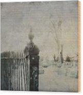 Dim Gothic Blur Wood Print