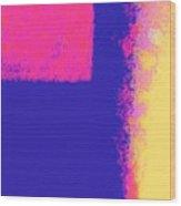 Dimensional Depth Of Squares  Wood Print