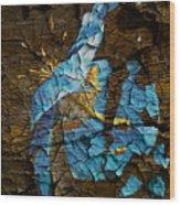 Diminishing Poppy Wood Print
