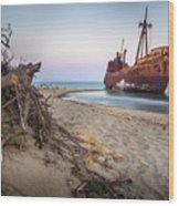 Dimitrios Shipwreck Wood Print