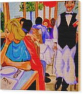 Diners At La Lutetia Wood Print