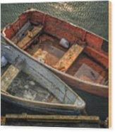 Dinghies At Rockport Wood Print