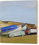 Dinghy Park At Freshwater Bay Wood Print