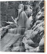 Dingmans Falls In Winter Wood Print