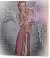 Diniel - Angel Who Protects Infants Wood Print