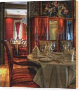 Dining At Muriel's Wood Print