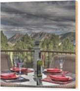 Dining With A View Wood Print